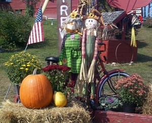 Fall Scarecrow Display