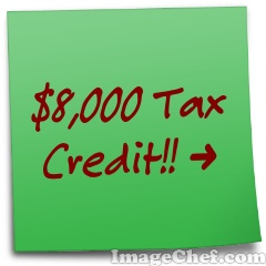 8000-tax-credit-sticky-note