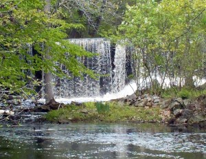 Hampton Falls NH Beautiful Waterfall - Route 84
