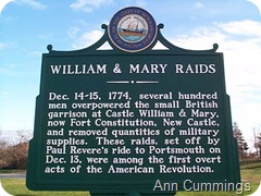 Ft. William and Mary Historic Marker - New Castle NH - Ann Cummings New Castle NH Copyright