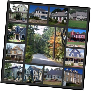 Portsmouth NH Homes collage - Homes and Condos of the Seacoast 10-31-2008 - Ann Cummings Copyright