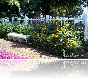 Prescott Park Bench and Flowers