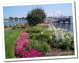 Prescott Park Gardens and Pier Overlooking the River - Portsmouth NH - Ann Cummings 2007