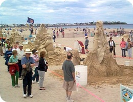 Sand Sculpture Viewing Line