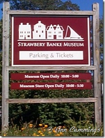 Strawbery Banke Museum Sign - Portsmouth NH - Ann Cummings 2007