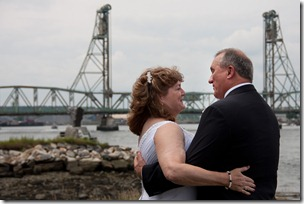 Ann Cummings and Jim Lee - 6-26-2011 Wedding Day - Memorial Bridge in Background